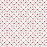Άνευ ραφής γεωμετρικό πρότυπο με τις καρδιές Στοκ φωτογραφίες με δικαίωμα ελεύθερης χρήσης