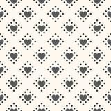 Άνευ ραφής γεωμετρικό πρότυπο με τις καρδιές Στοκ εικόνα με δικαίωμα ελεύθερης χρήσης