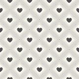 Άνευ ραφής γεωμετρικό πρότυπο με τις καρδιές Στοκ εικόνες με δικαίωμα ελεύθερης χρήσης