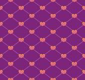 Άνευ ραφής γεωμετρικό πρότυπο με τις καρδιές Στοκ φωτογραφία με δικαίωμα ελεύθερης χρήσης