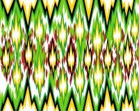 Άνευ ραφής γεωμετρικό σχέδιο, βασισμένο στο ύφος υφάσματος ikat επίσης corel σύρετε το διάνυσμα απεικόνισης απεικόνιση αποθεμάτων
