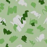 Άνευ ραφής γεωμετρικό σχέδιο με τα αφηρημένα κτυπήματα βουρτσών στο πράσινο υπόβαθρο απεικόνιση αποθεμάτων