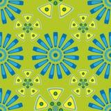 Άνευ ραφής γεωμετρικό σχέδιο στα χρώματα κρητιδογραφιών Στοκ Φωτογραφία