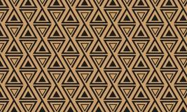Άνευ ραφής γεωμετρικό σχέδιο με τα τρίγωνα Στοκ Εικόνες