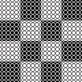 Άνευ ραφής γεωμετρικό σχέδιο με τους κύκλους στα τετράγωνα Στοκ Εικόνα