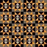 Άνευ ραφής γεωμετρικό σχέδιο των τριγώνων, των διαμαντιών και των τετραγώνων Στοκ εικόνα με δικαίωμα ελεύθερης χρήσης
