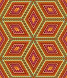 Άνευ ραφής γεωμετρικό σχέδιο των χρωμάτων φθινοπώρου απεικόνιση αποθεμάτων