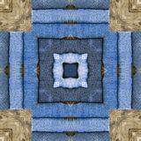 Άνευ ραφής γεωμετρικό τζιν παντελόνι σχεδίων απεικόνιση αποθεμάτων