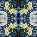 Άνευ ραφής γεωμετρικό τζιν παντελόνι σχεδίων ελεύθερη απεικόνιση δικαιώματος