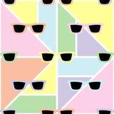 Άνευ ραφής γεωμετρικό υπόβαθρο με τα μαλακά χρώματα κρητιδογραφιών Στοκ εικόνα με δικαίωμα ελεύθερης χρήσης