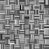 Άνευ ραφής γραπτά ευθέα κάθετα και οριζόντια μεταβλητά λωρίδες πλάτους Στοκ Εικόνες