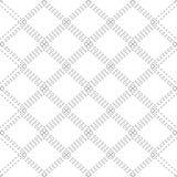 Άνευ ραφής γραπτό σχέδιο με τις βελονιές περιγράμματος των rhombuses Η σύσταση του υφάσματος και του καρό   διανυσματική απεικόνιση