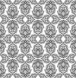 Άνευ ραφής γραπτό σχέδιο με τις γεωμετρικές διακοσμήσεις boho Φυλετικό υπόβαθρο απεικόνιση αποθεμάτων
