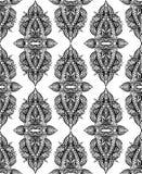 Άνευ ραφής γραπτό σχέδιο του Paisley με τις διακοσμήσεις boho στη σειρά Φυλετικό υπόβαθρο ελεύθερη απεικόνιση δικαιώματος