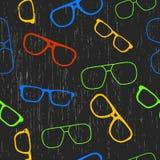 Άνευ ραφής γυαλιά Patterm Στοκ φωτογραφία με δικαίωμα ελεύθερης χρήσης
