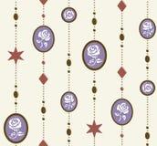 Άνευ ραφής γλυκός αυξήθηκε σχέδιο κρεμαστών κοσμημάτων Στοκ Εικόνες
