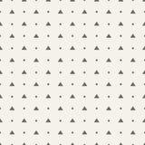 άνευ ραφής διάνυσμα προτύπων Απλές μορφές σημείων και τριγώνων Πόλκα Στοκ Φωτογραφίες