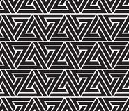 άνευ ραφής διάνυσμα προτύπων Σύγχρονη μοντέρνη αφηρημένη σύσταση Επανάληψη της γεωμετρικής επικεράμωσης από τα ριγωτά στοιχεία Στοκ Φωτογραφία