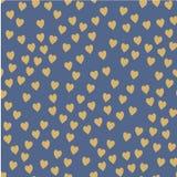άνευ ραφής διάνυσμα προτύπων Τυχαία διατεθειμένες καρδιές Χαριτωμένο υπόβαθρο για την τυπωμένη ύλη στο ύφασμα, έγγραφο, Στοκ Φωτογραφίες