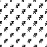 Άνευ ραφής διάνυσμα σχεδίων εμβλημάτων αστεριών διανυσματική απεικόνιση