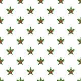 Άνευ ραφής διάνυσμα σχεδίων μούρων Χριστουγέννων κόκκινο ελεύθερη απεικόνιση δικαιώματος