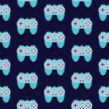 Άνευ ραφής διάνυσμα σχεδίων Gamepad Στοκ εικόνες με δικαίωμα ελεύθερης χρήσης