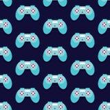 Άνευ ραφής διάνυσμα σχεδίων Gamepad Στοκ εικόνα με δικαίωμα ελεύθερης χρήσης