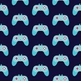 Άνευ ραφής διάνυσμα σχεδίων Gamepad Στοκ Εικόνες