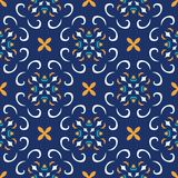 άνευ ραφής διάνυσμα σύστα&sigma Όμορφο χρωματισμένο σχέδιο για το σχέδιο και μόδα με τα διακοσμητικά στοιχεία Πορτογαλικά, μαροκι Στοκ φωτογραφία με δικαίωμα ελεύθερης χρήσης