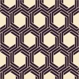 άνευ ραφής διάνυσμα σύστα&sigma abstract background modern Μονοχρωματικό γεωμετρικό σχέδιο με hexagons Στοκ φωτογραφία με δικαίωμα ελεύθερης χρήσης