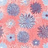 Άνευ ραφής διάνυσμα υποβάθρου σχεδίων λουλουδιών Η Floral ρύθμιση με το βαλμένο σε στρώσεις αστέρα, Daisy, Chamomile ανθίζει στο  απεικόνιση αποθεμάτων