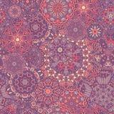 Άνευ ραφής διακόσμηση mandala σχεδίων διακοσμητικός τρύγος στ&o διανυσματική απεικόνιση