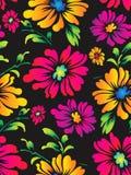 Άνευ ραφής διανυσματική ανασκόπηση λουλουδιών για το ύφασμα Στοκ Εικόνες