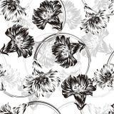 Άνευ ραφής διανυσματική ανασκόπηση λουλουδιών Στοκ Φωτογραφία