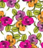 Άνευ ραφής διανυσματική ταπετσαρία λουλουδιών Στοκ Φωτογραφία