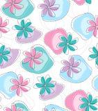 Άνευ ραφής διανυσματική φανταχτερή ταπετσαρία λουλουδιών Στοκ Φωτογραφίες
