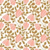 Άνευ ραφής διανυσματική floral ταπετσαρία Διακοσμητικό εκλεκτής ποιότητας σχέδιο στο κλασικό ύφος με τα λουλούδια και τους κλαδίσ ελεύθερη απεικόνιση δικαιώματος