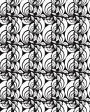 Άνευ ραφής διανυσματική swirly ταπετσαρία Στοκ Φωτογραφία