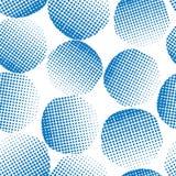 Άνευ ραφής διανυσματικοί μπλε κατασκευασμένοι κύκλοι υποβάθρου Μπλε σημεία στο άσπρο υπόβαθρο αφηρημένη ανασκόπηση γεωμ&epsil κύκ απεικόνιση αποθεμάτων