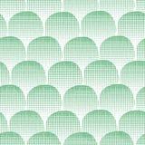 Άνευ ραφής διανυσματικοί πράσινοι κατασκευασμένοι κύκλοι υποβάθρου Πράσινα σημεία στο άσπρο υπόβαθρο αφηρημένη ανασκόπηση γεωμ&ep απεικόνιση αποθεμάτων
