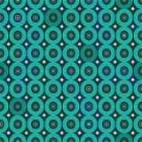 Άνευ ραφής διανυσματικό γεωμετρικό σχέδιο με τους κύκλους κιρκιριών διανυσματική απεικόνιση