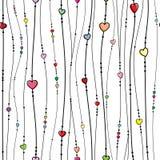 Άνευ ραφής διανυσματικό πρότυπο με τις καρδιές Διανυσματική απεικόνιση