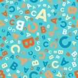 Άνευ ραφής διανυσματικό σχέδιο - διαφορετικά γράμματα ABC Απεικόνιση αποθεμάτων