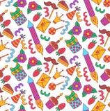 Άνευ ραφής διανυσματικό σχέδιο εικονιδίων γιορτής γενεθλίων doodle Στοκ φωτογραφία με δικαίωμα ελεύθερης χρήσης
