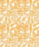 Άνευ ραφής διανυσματικό σχέδιο ζουγκλών με τα κίτρινα φύλλα φοινικών απεικόνιση αποθεμάτων
