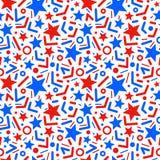 Άνευ ραφής διανυσματικό σχέδιο με τα αστέρια και chopsticks διανυσματική απεικόνιση