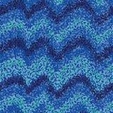 Άνευ ραφής διανυσματικό σχέδιο με τα κατασκευασμένα ωκεάνια κύματα που σύρονται με τα μπλε σημεία διανυσματική απεικόνιση
