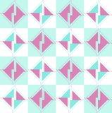 Άνευ ραφής διανυσματικό σχέδιο με το δίχρωμο γεωμετρικό σχέδιο που αποτελείται από τα πράσινα και τρίγωνα δαμάσκηνων Απεικόνιση αποθεμάτων