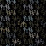 Άνευ ραφής διανυσματικό σχέδιο τέχνης γραμμών φύλλων μαύρο και χρυσό διανυσματική απεικόνιση