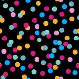 Άνευ ραφής διανυσματικό σχέδιο του ζωηρόχρωμου κομφετί κομμάτων Στοκ εικόνα με δικαίωμα ελεύθερης χρήσης